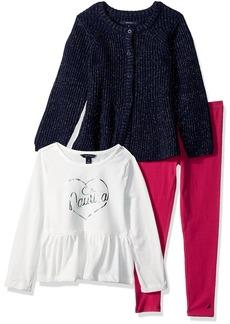 Nautica Toddler Girls' Three Piece Sweater Sets