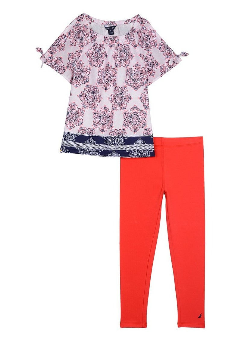 c2af8cdf22a9a Nautica Nautica Toddler Girls' Two Piece Legging Sets | Casual Pants