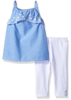 Nautica Girls' Toddler Two Piece Legging Sets