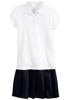 Nautica School Uniform Pleated Polo Dress, Big Girls
