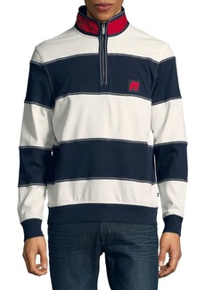 Nautica Wide-Stripe Quarter-Zip Pullover