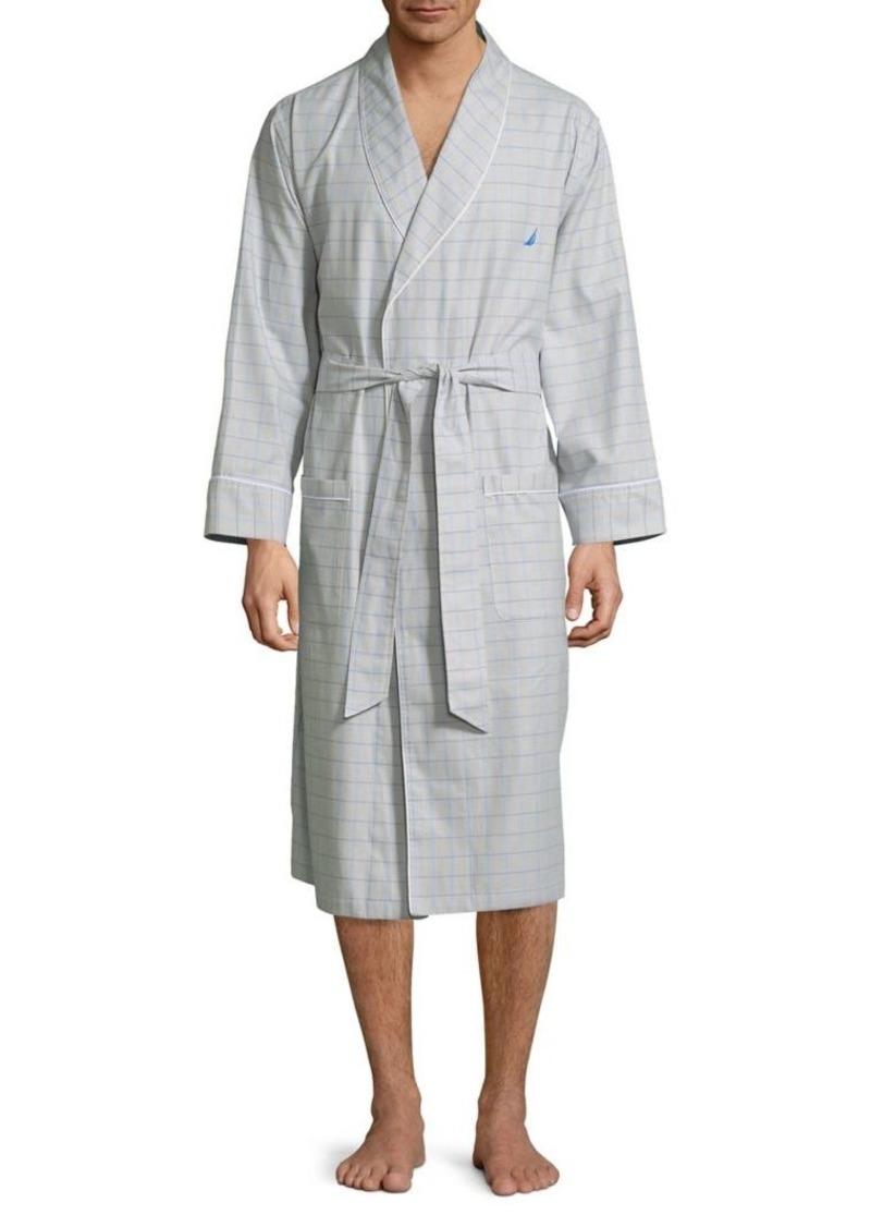Nautica Windowpane Cotton Robe