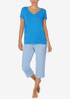 Nautica Women's 2-Pc. T-Shirt & Capris Pajama Set