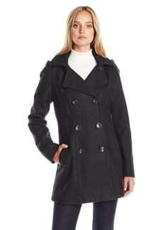Nautica Women's 3/4 Hooded Peacoat  XS
