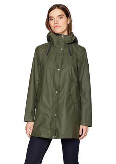 Nautica Women's Aline Rubber Rain Coat