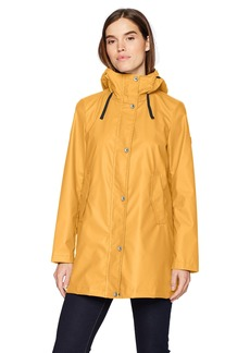 Nautica Women's Aline Rubber Rain Coat