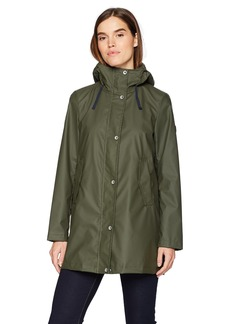 Nautica Women's Aline Rubber Rain Coat  Extra Large