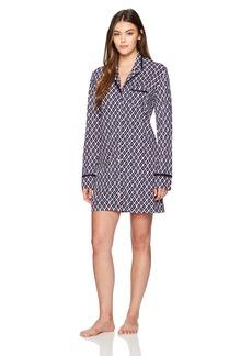 Nautica Women's Button Down Ikat Print Sleepshirt  XXL