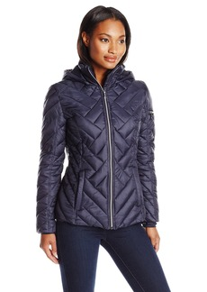 Nautica Women's Chevron Puffer Jacket