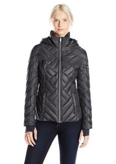 Nautica Women's Chevron Puffer Jacket