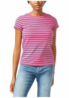 Nautica Women's Classic Fit Stripe T-Shirt