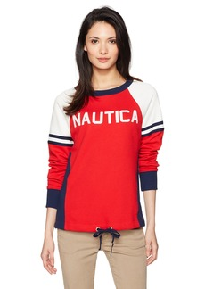Nautica Women's Classic Heritage Logo Sweatshirt  L