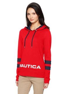 Nautica Women's Classic Heritage Logo Sweatshirt Tango red M