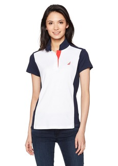 Nautica Women's Classic Heritage Short Sleeve Polo Shirt  L