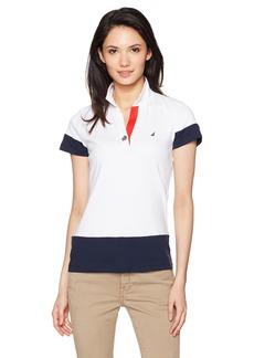 Nautica Women's Classic Heritage Short Sleeve Polo Shirt  M