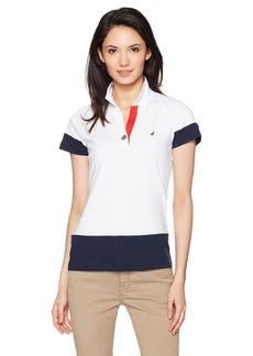 Nautica Women's Classic Heritage Short Sleeve Polo Shirt  S