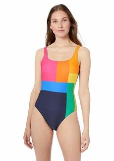 Nautica Women's Classic Scoop Neck One Piece Swimsuit