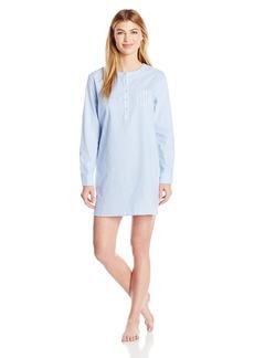 Nautica Women's Cotton Chambray Sleepshirt  S