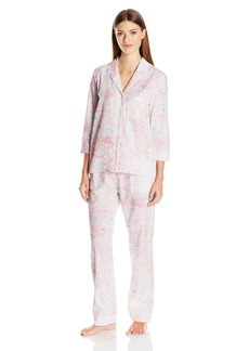 Nautica Women's Cotton Notch Collar Pajama  M