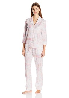 Nautica Women's Cotton Notch Collar Pajama  S