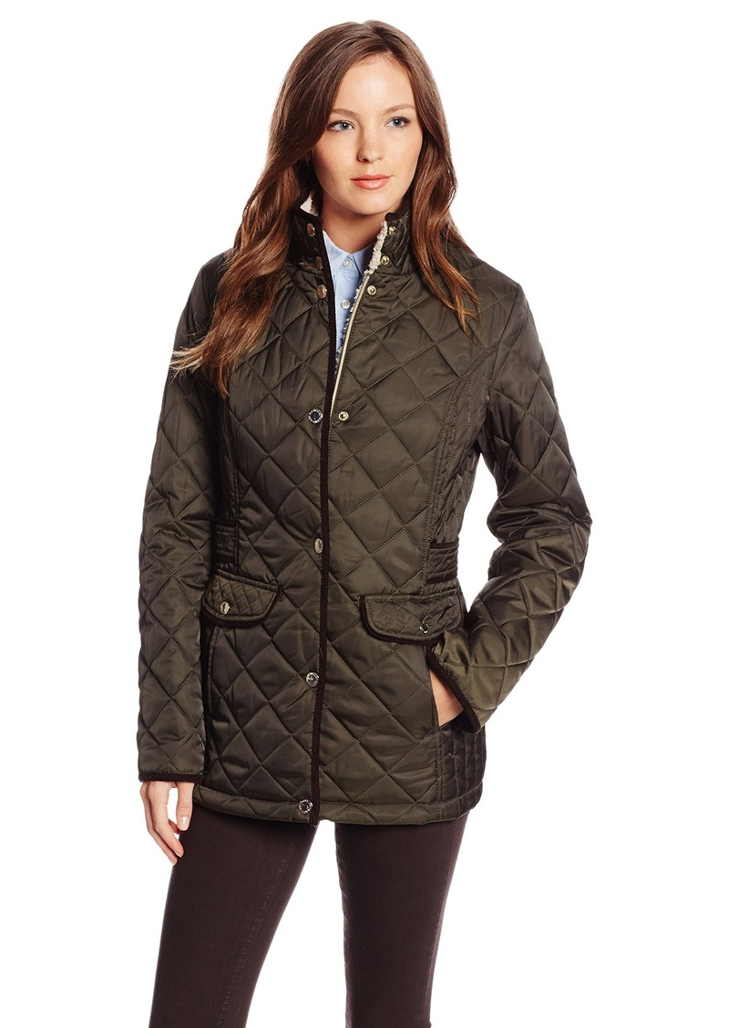 Nautica Women's Diamond Quilted Barn Jacket  X/Large