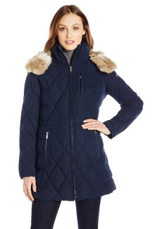 Nautica Women's Diamond Quilted Puffer Coat with Hood  mall