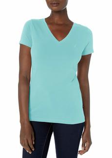 Nautica Women's Easy Comfort V-Neck Supersoft Stretch Cotton T-Shirt