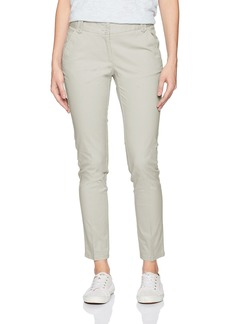 Nautica Women's Full Length Straight Leg Classic Stretch Twill Trouser