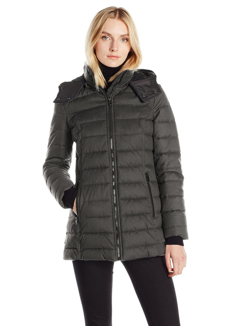 cf17799ad Nautica Nautica Women's Hooded Puffer Coat in Faux Wool Fabric Extra ...