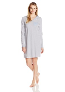 Nautica Women's Striped Hooded Sleepshirt  S