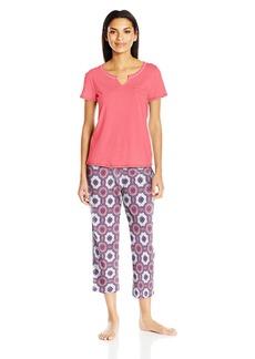 Nautica Women's Jersey Knit Capri Pajama Set  S