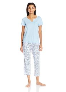 Nautica Women's Jersey Knit Capri Pajama Set  XS