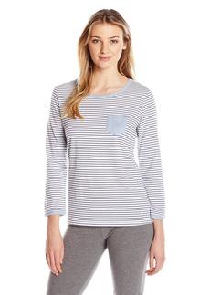 Nautica Women's Knit Lounge Striped Top  M