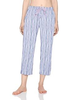 Nautica Women's Knit Printed Capri Pant  M