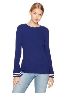 Nautica Women's Long Ribbed Bell Sleeve Sweater  M