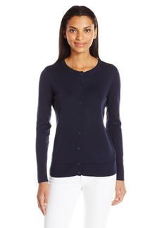 Nautica Women's Long Sleeve Button Down Classic Cardigan