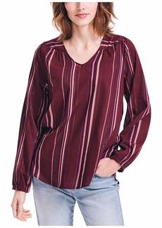 Nautica Women's Lurex Stripe Woven Shirt