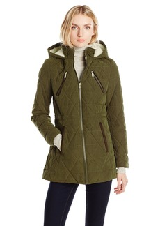 Nautica Women's Micro Fiber Quilted Jacket W/ Hood  L
