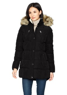 Nautica Women's Microfiber Heavy Weight Down Coat
