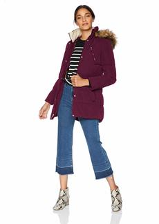 Nautica Women's Microfiber Heavy Weight Down Coat deep sea Purple