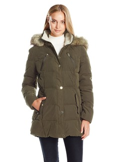 Nautica Women's Microfiber Heavy Weight Down Coat  XS