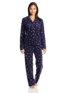 Nautica Women's Microfleece Pajama Set