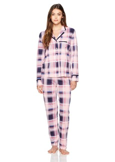 Nautica Women's  Notch Collar Pajama Set S