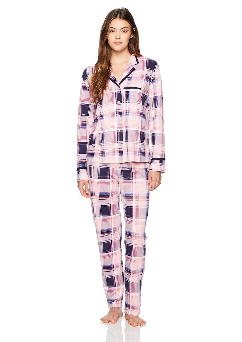 Nautica Women's  Notch Collar Pajama Set S