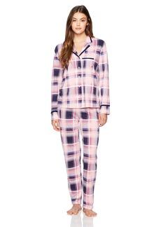 Nautica Women's Notch Collar Pajama Set  XL