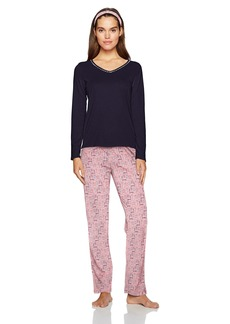 Nautica Women's Packaged Knit Pajama Set  S