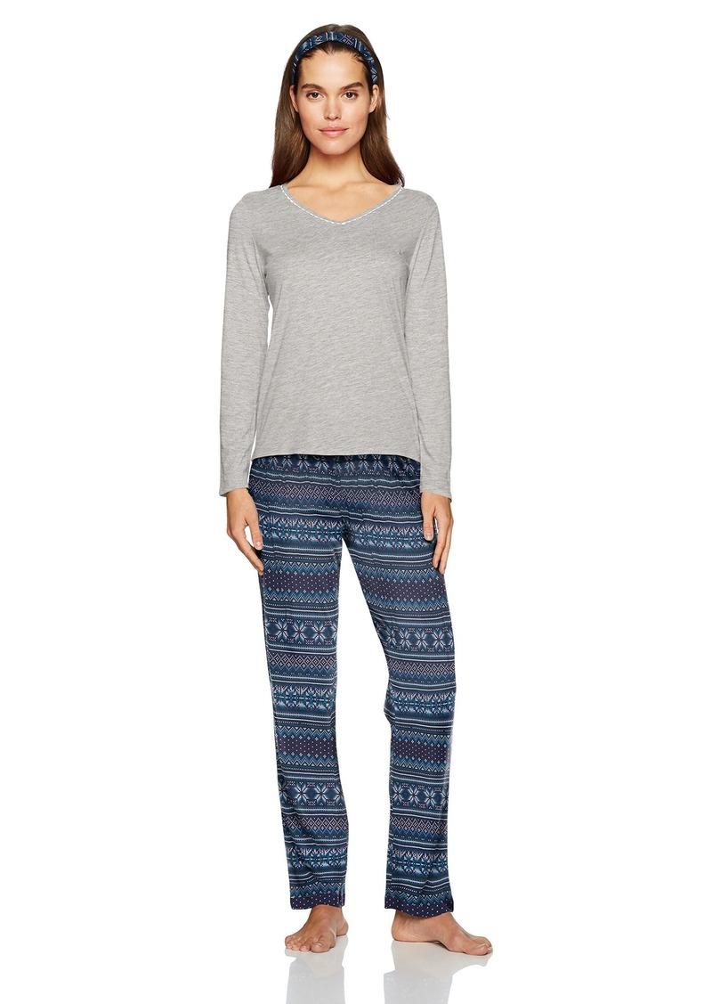 Nautica Women's Packaged Knit Pajama Set  XS