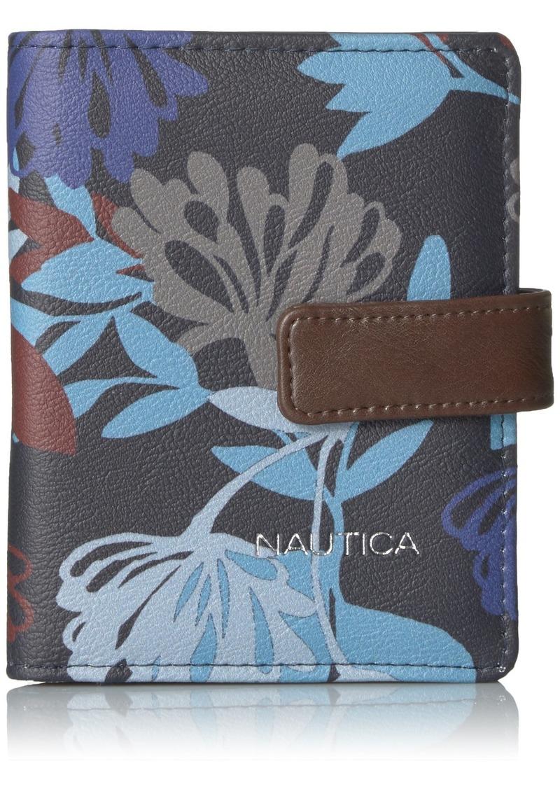 Nautica Women's Plain Sailing Deluxe Wallet RFID Blocking Passport Case  One Size