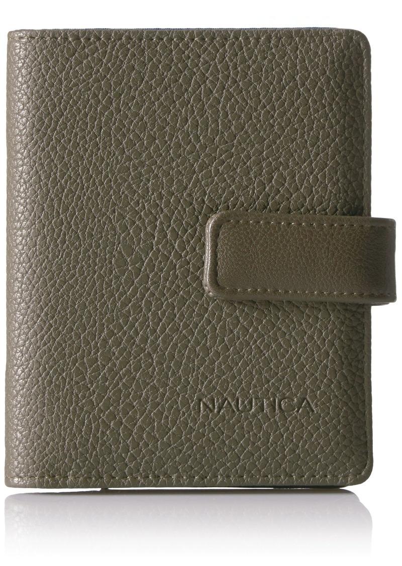 Nautica Women's Plain Sailing RFID Deluxe Passport Travel Wallet olive