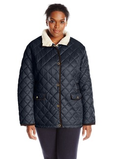 Nautica Women's Plus-Size Diamond Quilted Barn Jacket